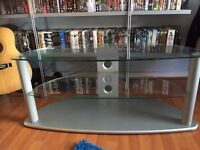 Silver grey TV stand
