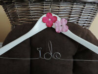 Personalized Bridal Hangers and Garter Sets
