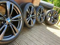 "Genuine BMW 3 4 Series 19"" 442 M Sport Alloy Wheels & Tyres F30 F31 F32 F33 F34 F36 E90 E92 Z4 An"