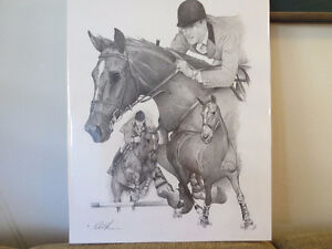 "EQUESTRIAN: TITLED ""THE GREAT CANADIAN "" IAN MILLER & BIG BEN. Kitchener / Waterloo Kitchener Area image 2"