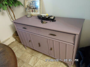Dining Hutch/Sideboard chalk painted in Emile~$250 OBO