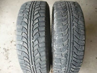 Two 235-60-18 snow tires $150.00