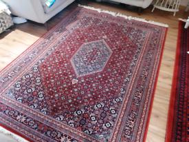 100% wool rug red Afghan John Lewis keshan
