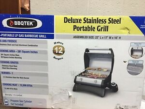 Deluxe Stainless Steel portable grill