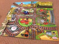 Island of sodor play mat with Thomas train