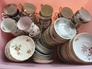 220+ Vintage bone china tea cups/ saucers