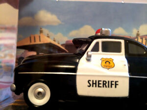 Disney store Die cast Cars Sheriff Mercury Police Cruiser RARE