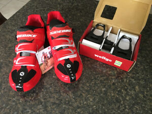 Brand new  cycling shoes with pedals