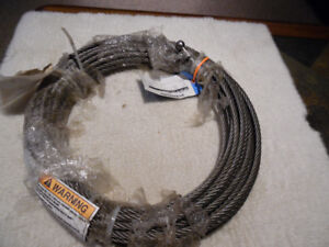 3/8 in. x 400 ft Wire Rope  Cable 4 pieces 100ft long each New