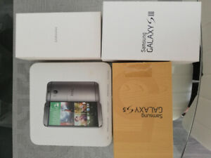 Phones for sale. Samsung S3, Samsung S5, Samsung S6 and HTC One