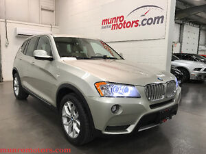 2013 BMW X3 xDrive28i Panoramic and Premium PKG Low Kms