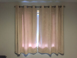 7 curtains + rod for sale