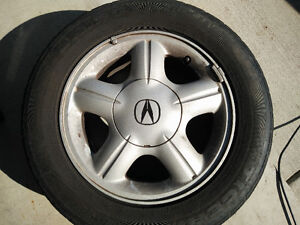 195/65/R15 4 M+S Tires with sports rims