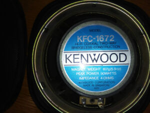 Kenwood speakers and Cassette deck.