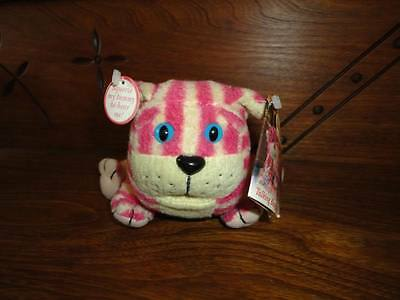 BAGPUSS Talking Cat Plush Pink White Striped 9 Inch Shropshire UK Golden Bear