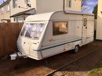 2 berth Bailey Ranger caravan with awning