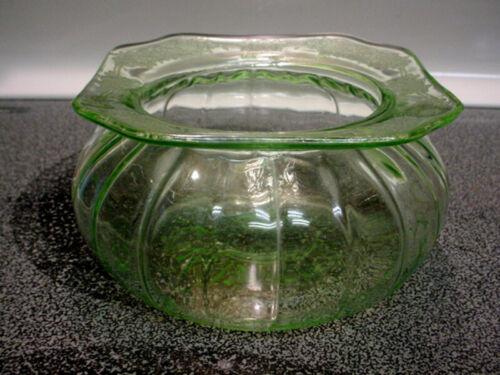 Vintage Green Adam Candy Jar - No Lid