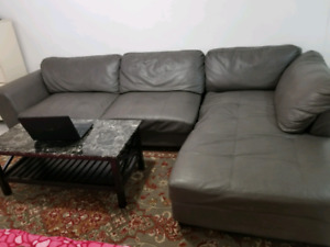 Couch with 2 table sets