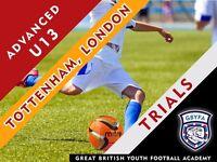 U13 Advanced Football Coaching - Trials this week!