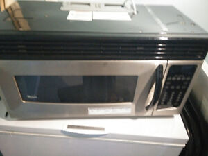 Whirlpool Stainless Steel Over the Range Microwave