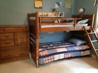 oak bunk bed set for boys