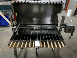 Multi spit skewer charcoal  rotisserie with lidNew