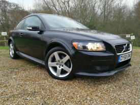 2008 58 Volvo C30 1.6 R-Design Sport BLACK TWO TONE LEATHER FSH HPI CLEAR