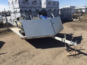 2008 Sledbed 2 Place Sled Trailer