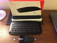 Microsoft Arc Keyboard & Mouse QWERTY English Layout With USB Dongles Good Used Condition