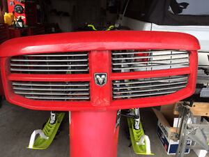 Sport grill 08 Ram 1500 red in color with wind deflecter