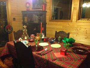 9 pc Belgian Oak Dining Room Set