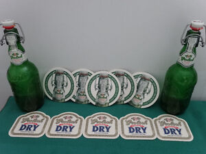 Grolsch bottles and coasters