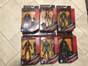 FULL SET OF 6 MULTIVERSE JUSTICE LEAGUE FIGURES + STEPPENWOLF!