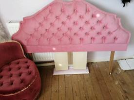 Pink vintage Velour head board