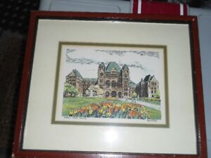 Hand-coloured Colour Print of Queen's Park