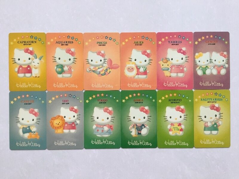 Hello Kitty horoscope cards