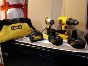DEWALT CORDLESS DRILL AND IMPACT DRIVER