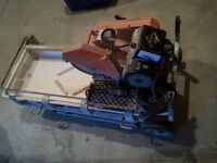 Wet tile saw (still available)