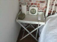 2 shabby chic bedside trays