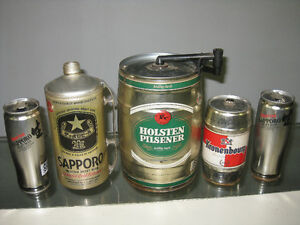 Vintage Beer Keg and Cans Holsten, Sapporo and Kronenbourg Sarnia Sarnia Area image 1