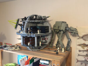 LEGO Death Star (10188) & AT-AT (75054) - Assembled