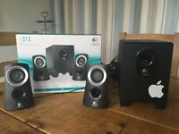 Stereo Speakers & Subwoofer complete with box