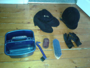 Horse riding helmet and accessories