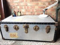 VINTAGE TRUNK CHEST FREE DELIVERY CHEST COFFEE TABLE STORAGE BOX