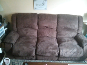 Microfiber reclining couch