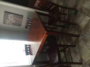 Pub style table with four chairs