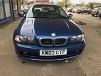 2003 BMW 318 - MOT: 5/April/2018 - 5 Serv Stamps - Few Invoices Available