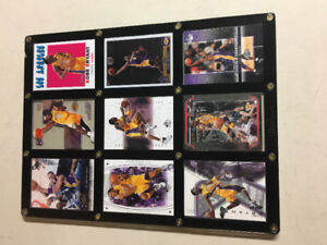 Kobe Bryant framed cards