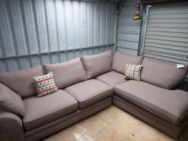 ⭐Brand new ex-display light brown fabric corner sofa⭐