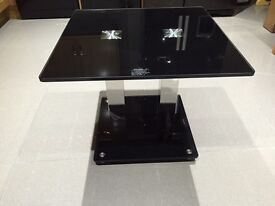 Black and chrome table